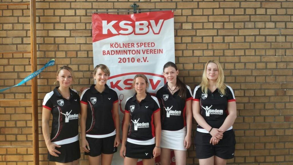 Die Mannschaft des KSBV3  (von l. nach r.: Anna, Andrea U., Nina, Nicola, Jenny)